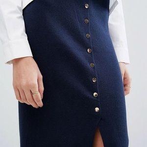 NWOT Vera Moda Knitted Split Skirt—Navy